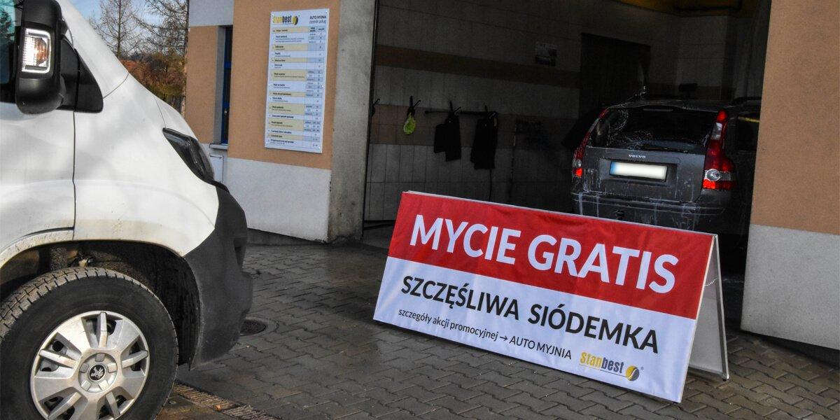 Akcja promocyjna wnaszej auto myjni