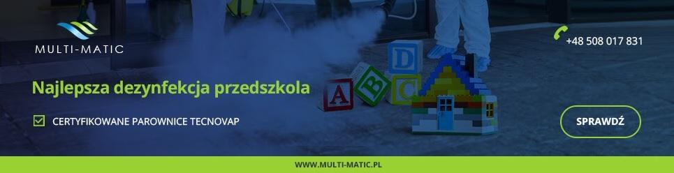 Dezynfekcja w przedszkolu z parownicami profesjonalnymi Multi-matic.pl